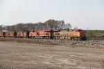 BNSF 1097 Leads a Nb rock train up the BNSF Hannibal Sub.
