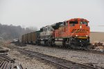 BNSF 9267 Leads a loaded coal drag into Old Monroe Mo.