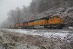 BNSF 9849 Into the snow..