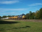 CSX 7703 eastbound UP loaded grain train