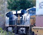 CSX Intermodal coasts downhill into Columbus, OH