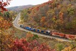 A CSX Train passes Foley Overlook