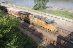 UP 5835 Works Dpu on a WB empty oil train.