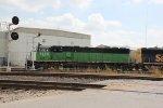 BNSF 1455 Heads up a Transfer train through Santa Fe Jct.