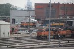 BNSF 4167 and more power sit's in the Locemotive facilty,