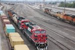 FXE 4681 heads lite power west into the yard..