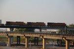 3 Ge's lead a Solid EB stack train into Missouri.