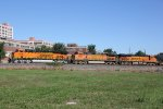 BNSF 8128 Brand new C4 Gevo leads a WB Stack train..