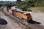 BNSF 6365 Heads up a Nb empty coal train..