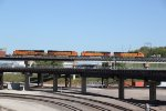 BNSF 4628 Leads a EB stack over the Flyover.