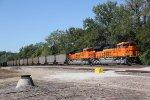 BNSF 8416 & 8417 team up on a empty coal train..