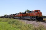BNSF 8451 & 8452 lead a freight up the Fort Scott Sub.
