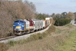 A pair of first generation EMDs lead the Woodstock Job West, headed back to Ingersoll.