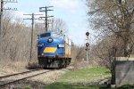 "OSR's pair of EX-CN pass the signal guarding the CN diamond at ""Carew"""