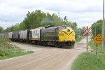 A pair of OSR's F's heads West out of Ingersoll with cars for Putnam.