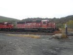 CP Rail System engine with a rare half flags