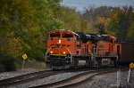 BNSF 9224 leads westbound coal.