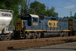 CSX GP40-2 6064 trails on C770-25