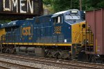 CSX ES44AH 3080 trails on K069-12