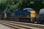 CSX ES44AH 716 trails on Q410-13