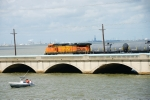 Even the boaters were temporary railfans