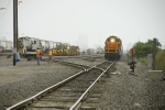 BNSF 2629 waits while MOW gang ties up in West Yard