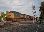 CSX 7830 Leads A Westbound Manifest - 8/20/2014