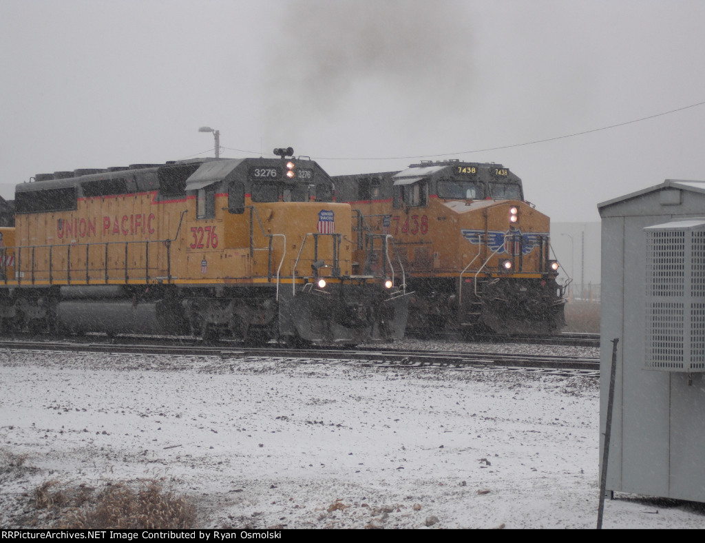 Switching power passing Mainline freight