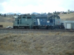 MRL 123 GP9 and MRL 405 GP35 on yard duty