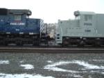 Nose shot of PWSX 1229 SD18 and MRL 314 SD45-2