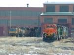 BNSF 7140 SD40-2 and Rail Grinders at Talgo-LRC