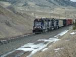 MRL 326 SD45-2 ex-SP heading up Bozeman Pass