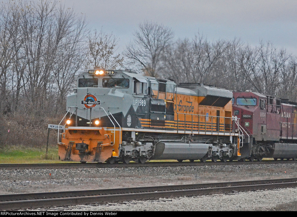 UP  1989,  CP's   Tomah  Sub.