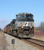 Southbound NS 8923 at milepost H22. 22 mile South of Hagerstown Md.