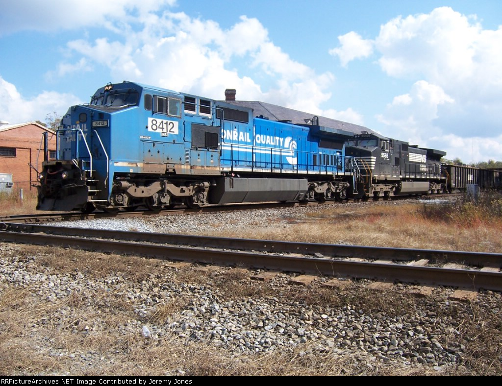 Big Blues in the lead as 187 passes the old Opelika Depot.