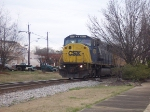 Former Conrail leads a CSX Train south through Opelika.