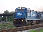One of the few remaining C36-7 in Conrail leads CSX work train north from Opelika.  Notice the second unit is also a former Conrail C36-7, 7125
