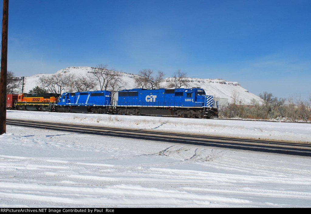 CITX 6004 Point On East Bound Beer Train From Golden