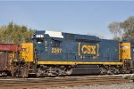 CSXT 2267 In New Shopping Cart Paint At New River Yard