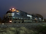 NS Units Under the Lights in the Drizzle