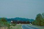 NS train #67 rolls east through Cherrys Crossing, near Clemson.