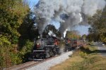 Tennessee Valley Railroad Museum 2014 Double Header Fall Foliage Steam Excursion