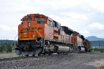 Pushing southbound loaded coal train