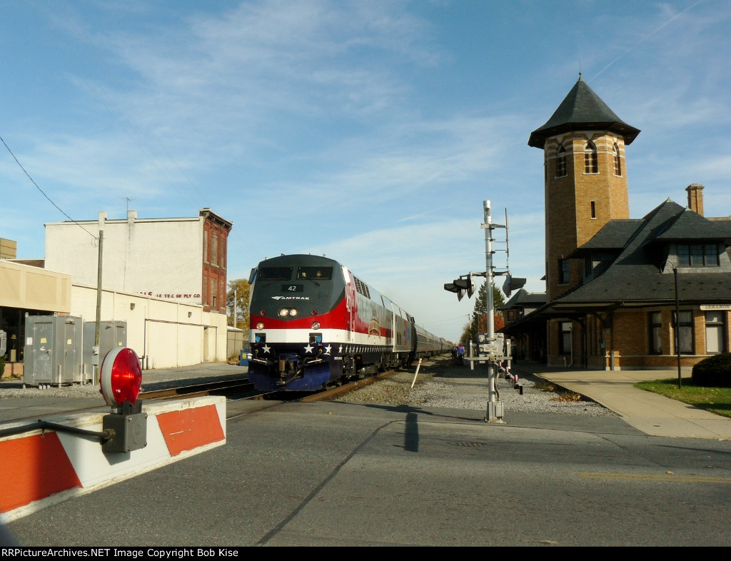 Passing the historic Reading RR station at 8th Street