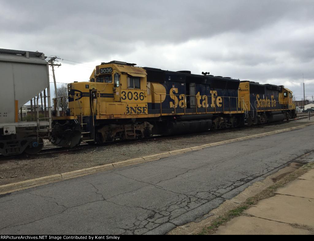 BNSF 3036 GP40X New Albany, MS