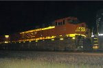 BNSF ES44DC 7262 trails on 14G