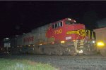 BNSF C44-9W 750 in Warbonnet paint trails on 17G