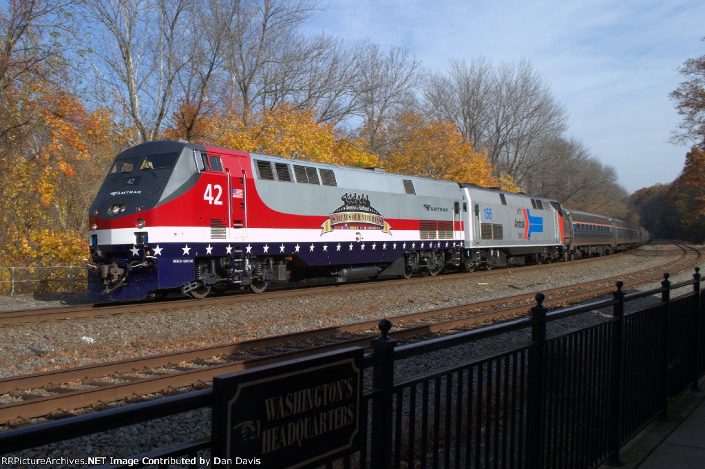 Amtrak 803/NS 064 at Valley Forge Park