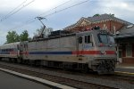 SEPTA AEM-7 2303 brings up the rear of 6378