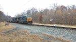 CSX 3134 leading a load coal train